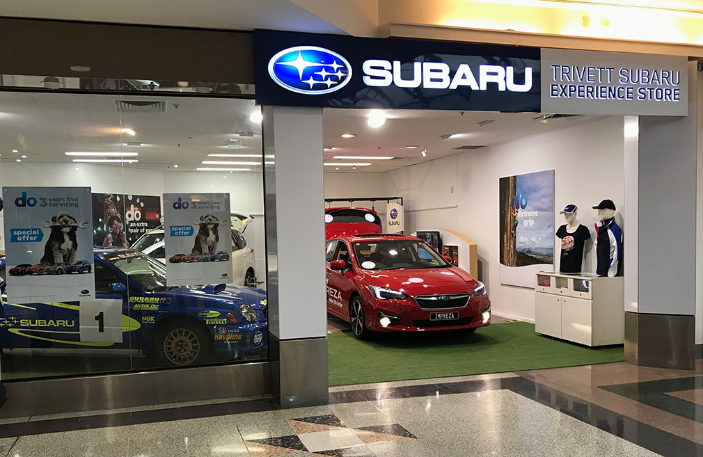 Subaru popup in Castle Towers