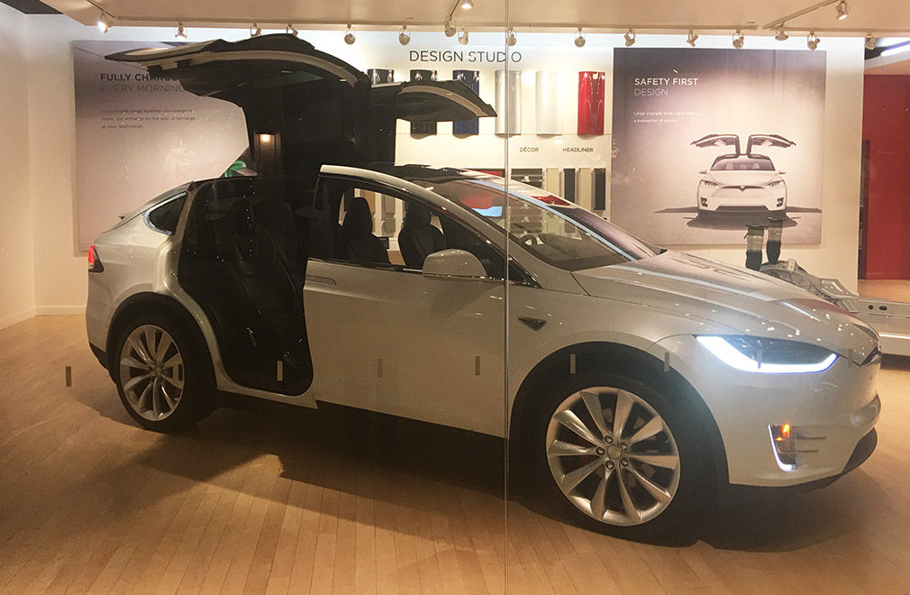 Tesla Experience Showroom in Boston